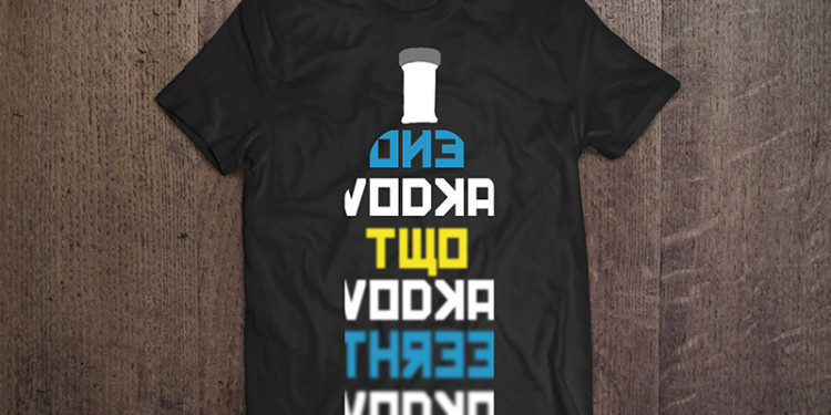 Camiseta One Vodka, Two Vodka, Three Vodka