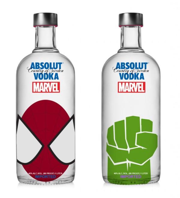 Vodka Absolut Marvel - Homem Aranha e Huck