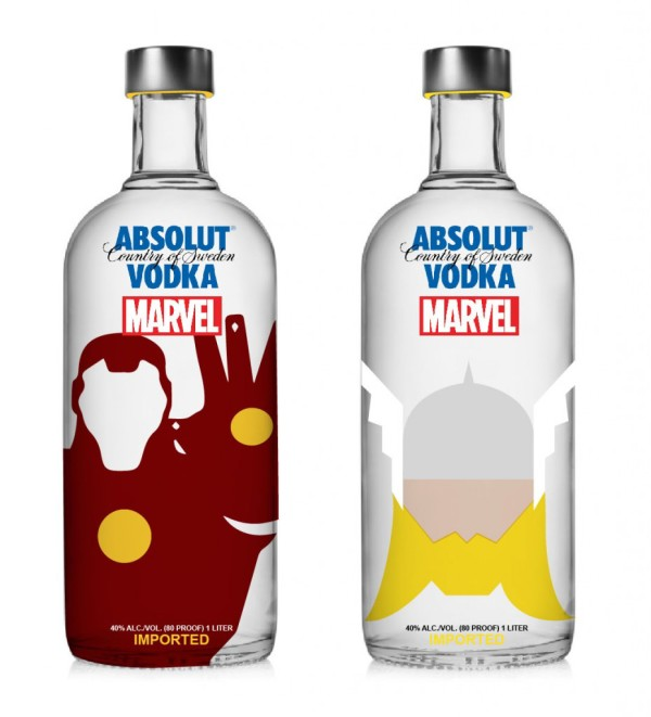 Vodka Absolut Marvel - Homem de Ferro e Thor