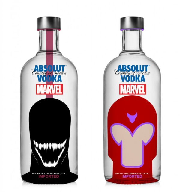 Vodka Absolut Marvel - Venom e Magneto