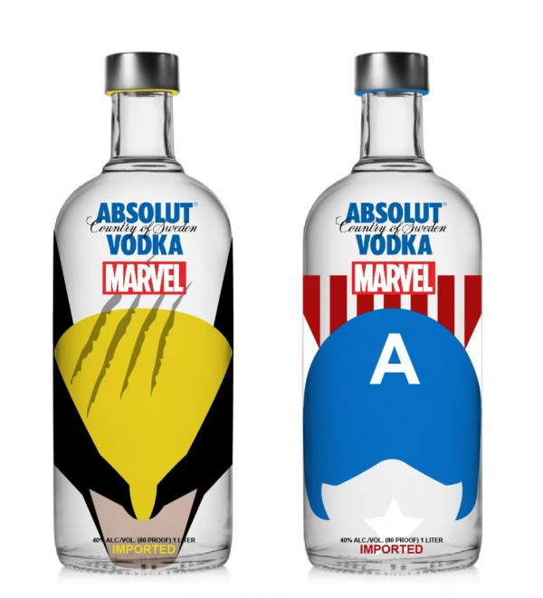 Vodka Absolut Marvel - Wolverine e Capitão América